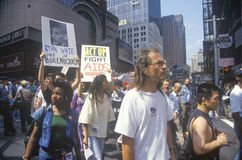 Demonstrators marching at AIDS rally Stock Images