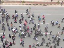 Demonstrators in Narobi. Univesity students protest   in Nairbi Kenya Stock Photo
