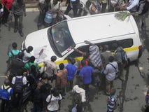 Demonstrators in Narobi. Univesity students protest   in Nairobi Kenya Royalty Free Stock Photo