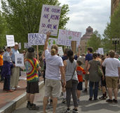 Demonstrators Promote Science Stock Images