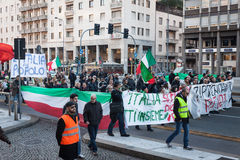 Demonstrators protesting against the government in Milan, Italy Royalty Free Stock Photography