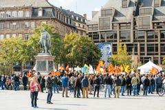 Demonstrators protesting against Turkish President Erdogan polic Royalty Free Stock Photography