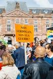 Demonstrators protesting against Turkish President Erdogan polic Stock Photography