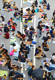 Umbrella demonstrators standoff at admiralty, hong kong Stock Photo
