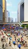 Umbrella demonstrators standoff at admiralty, hong kong Royalty Free Stock Photography