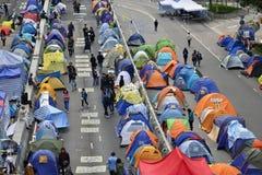 Demonstre em Hong Kong fotos de stock royalty free