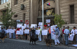Demonstre no Santiago do mercado de troca, o Chile imagens de stock royalty free
