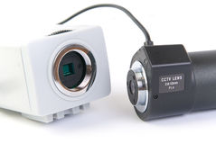 Demontera Cctv-kamera Arkivbild