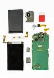 Demonterad smart telefon Fotografering för Bildbyråer