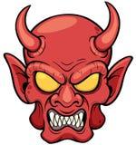 demonu czarciej twarzy ilustracyjny odosobniony portreta s wektor Obraz Royalty Free