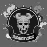 demonu horroru ilustracyjny odosobniony przedmiota czaszki wektor Obraz Royalty Free