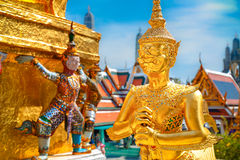 Demonu opiekun przy Watem Phra Kaew - świątynia Szmaragdowy Buddha w Bangkok Zdjęcie Stock