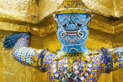 Demonu opiekun przy Watem Phra Kaew, Uroczysty pałac, Bangkok, Tajlandia Zdjęcie Stock