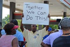 Free Demosntrators Gather At Ferguson, Missouri Stock Images - 43581524