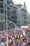 Demostración 2012, Barcelona, España del día de mayo Fotografía de archivo