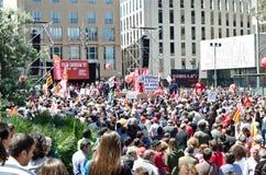 Demostración 2012, Barcelona, España del día de mayo Foto de archivo