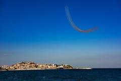 Demostración aero-marítima de Kavala Imágenes de archivo libres de regalías