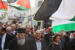Demostración anti de la guerra que utiliza Gaza en Nazareth Imagen de archivo libre de regalías