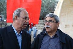 Demostración anti de la guerra que utiliza Gaza en Nazareth Imagen de archivo
