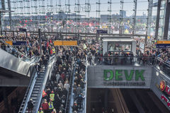 Demostración anti de TTIP en Berlín Fotografía de archivo libre de regalías
