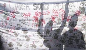 Demostración anticorrupción Foto de archivo libre de regalías
