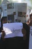 Demostración anticorrupción Fotos de archivo libres de regalías