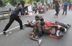 Demostración anticorrupción Fotos de archivo