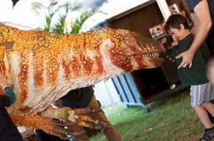 Demostración asustadiza del dinosaurio Fotografía de archivo