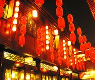 Demostración china de la linterna fotografía de archivo libre de regalías