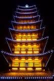 Demostración china de la luz de la pagoda Fotos de archivo libres de regalías