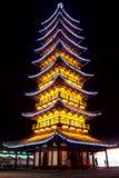 Demostración china de la luz de la pagoda Foto de archivo libre de regalías