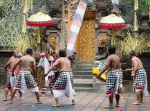 Demostración clásica tradicional del teatro de Barong en Bali Imágenes de archivo libres de regalías