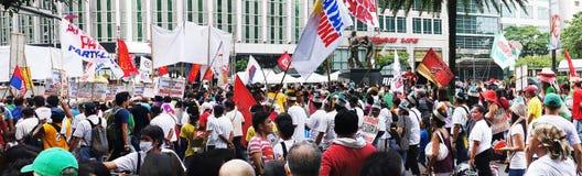Demostración contra la corrupción Imágenes de archivo libres de regalías