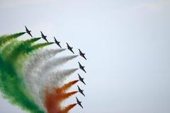 Demostración de aire de Freccie Tricolore Foto de archivo libre de regalías