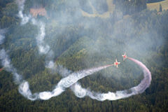 Demostración de aire del Airpower 2011 en Zeltweg, Austria Fotos de archivo libres de regalías