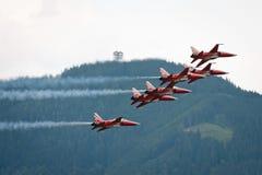 Demostración de aire del Airpower 2011 en Zeltweg, Austria Fotos de archivo