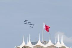 Demostración de aire internacional de Bahrein 2012 Fotos de archivo libres de regalías