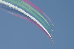 Demostración de aire internacional de Bahrein 2012 Foto de archivo libre de regalías