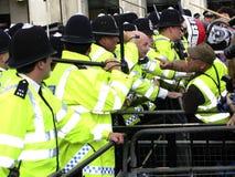 Demostración de Anti-Bush en Londres Imágenes de archivo libres de regalías