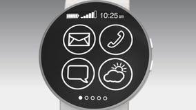 Demostración de Apps en un reloj elegante almacen de metraje de vídeo