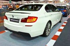 Demostración de BMW 528i en el segundo salón auto internacional 201 de Bangkok fotografía de archivo libre de regalías