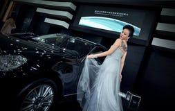 Demostración de coche en Wuhan Imagenes de archivo
