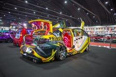 Demostración de coche modificada en el International 2017 de Bangkok Fotografía de archivo libre de regalías