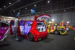 Demostración de coche modificada en el International 2017 de Bangkok Fotos de archivo libres de regalías