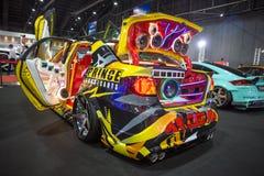 Demostración de coche modificada en el International 2017 de Bangkok Imagenes de archivo