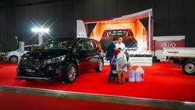 Demostración de coche modificada en el salón auto internacional 2018 de Bangkok Imagen de archivo libre de regalías