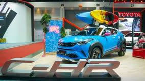 Demostración de coche modificada en el salón auto internacional 2018 de Bangkok Imagen de archivo