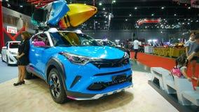 Demostración de coche modificada en el salón auto internacional 2018 de Bangkok Fotos de archivo