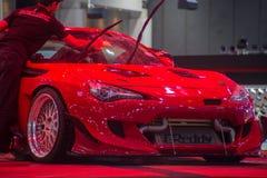 Demostración de coche modificada en el salón auto internacional 2018 de Bangkok Imágenes de archivo libres de regalías