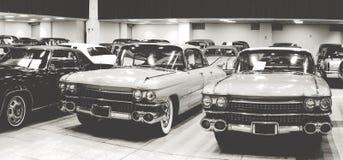 Demostración de coches antiguos del vintage Foto de archivo libre de regalías